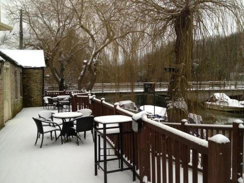 The Pantry Pub in the Snow