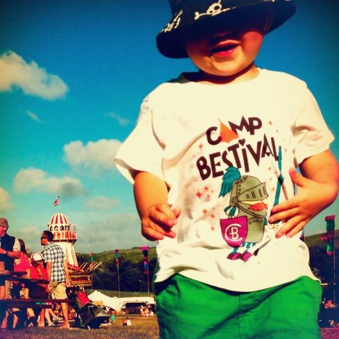 Finn at Bestival